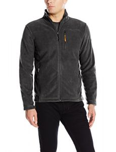 FOG by London Fog Men's Performance Fleece with Chest Zipper Pocket, Charcoal, L