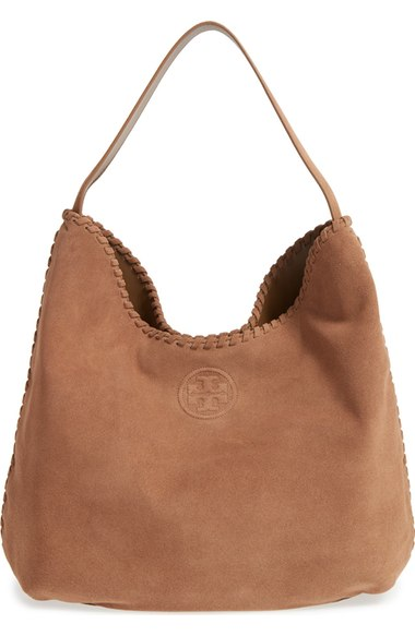 Tory Burch 'Marion' Suede Hobo