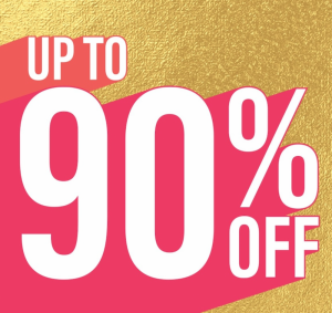 Saks up to 90% off!