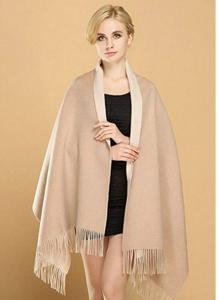 厚实温暖羊绒羊毛大披肩